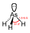Trihydrure d'arsenic : structure chimique