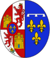 Coat of arms of Queen Mercedes of Spain.png