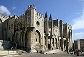 Pope palace Avignon by Rosier.jpg