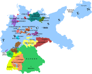 Map of Germany in 1933