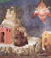 Giotto - Legend of St Francis - -19- - Stigmatization of St Francis.jpg