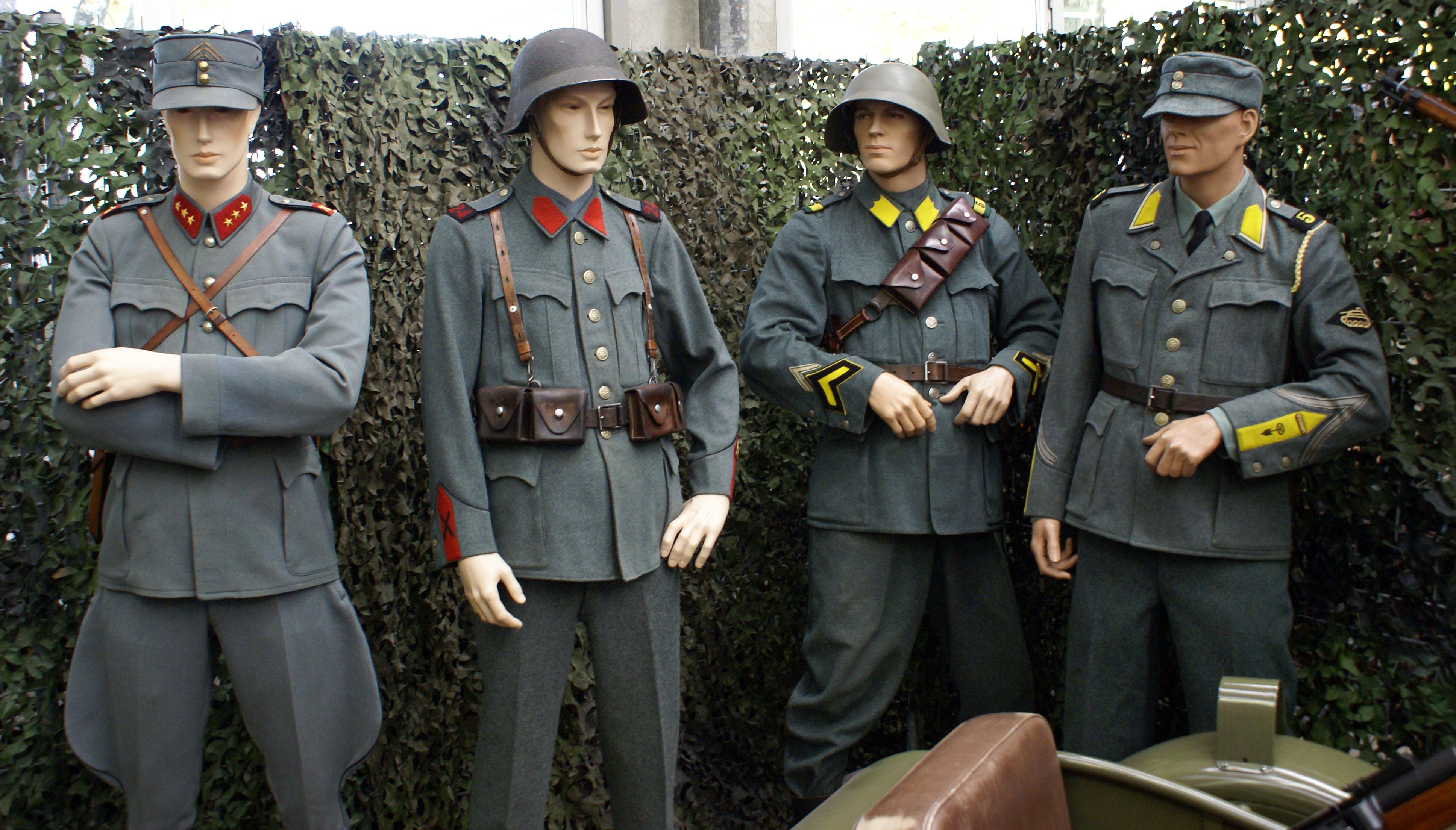 Uniformes de la seconde guerre mondiale