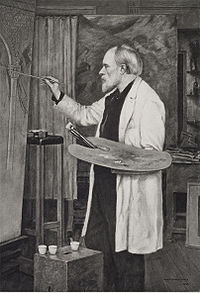 Photogravure d'un portrait de Edward Burne-Jones par son fils Philip Burne-Jones, 1898