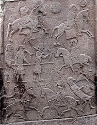 Pictish Stone at Aberlemno Church Yard - Battle Scene Detail.jpg