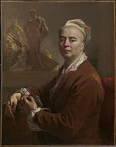 Autoportrait en tenue d'atelier, 1707, Washington, National Galery of Art.