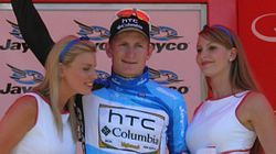 André Greipel blue 2, Stirling podium, TDU 2010 Stage 3.JPG