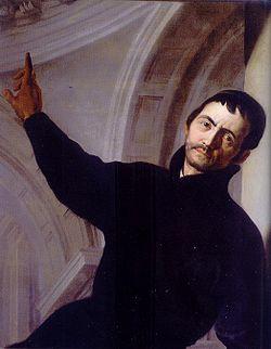 Auto-portrait d'andrea pozzo (au gesù, rome)