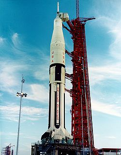 Le lanceur Saturn IB de la mission AS-202.