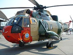Sea King de la 40e escadrille à Coxyde en 2006