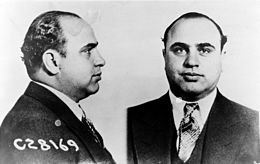 Photos prises lors de l'arrestation de Capone par la police de Chicago