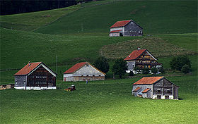 Vue aérienne de Appenzell (district)