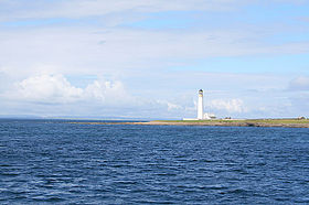 Le phare d'Auskerry sur South Taing.