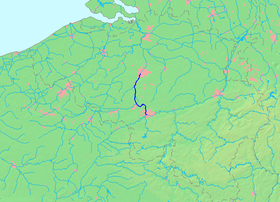 Localisation du canal Bruxelles-Charleroi
