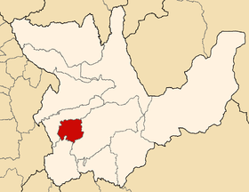Location of the province Yarowilca in Huánuco.png