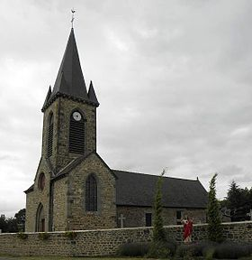 L'église Sainte-Anne de Lourmais.