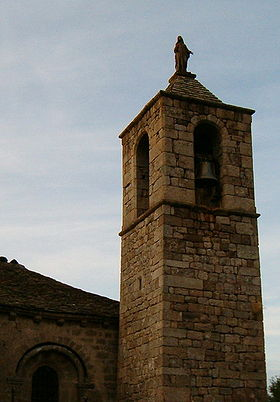 Clocher de l'église, centre de la commune