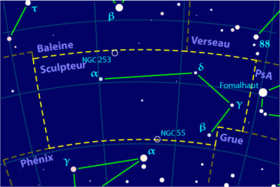 Image illustrative de l'article Sculpteur (constellation)