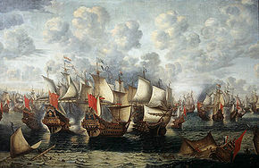 Eerste fase van de Zeeslag in de Sont - First phase of the Battle of the Sound - November 8 1568 (Jan Abrahamsz Beerstraten, 1660).jpg