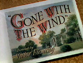 Accéder aux informations sur cette image nommée Gone With The Wind title from trailer.jpg.