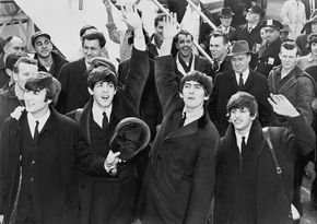 Les Beatles à l'aéroport JFK