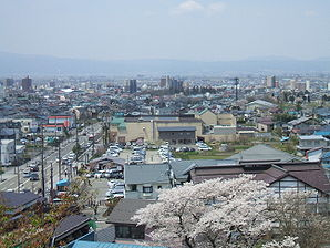 Aizuwakamatsu City's Downtown from Mt.Imoriyama.jpg