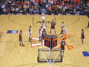 2006-2007 Virginia Tech at Virginia men's basketball pre-tip.jpg