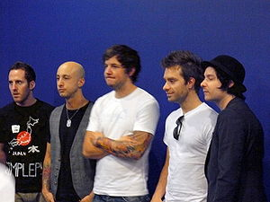 Les membres du groupe Simple Plan