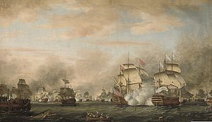 The battle of the Saints 12 avril 1782.jpg