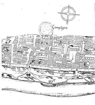 Plan De La Ville De Compiegne Et Environs