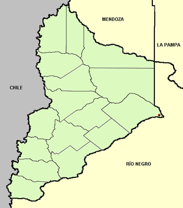 Neuquén province (Argentina), departments and capital.png