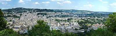 Bath city centre as seen from Alexandra park