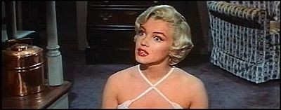 Monroe listening in The Seven Year Itch trailer 1.jpg