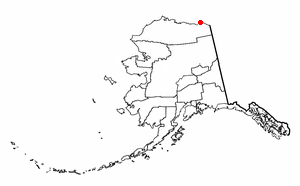 Location of Kaktovik, Alaska