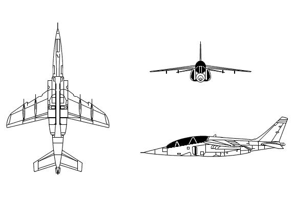 Line Art Jet : Alpha jet