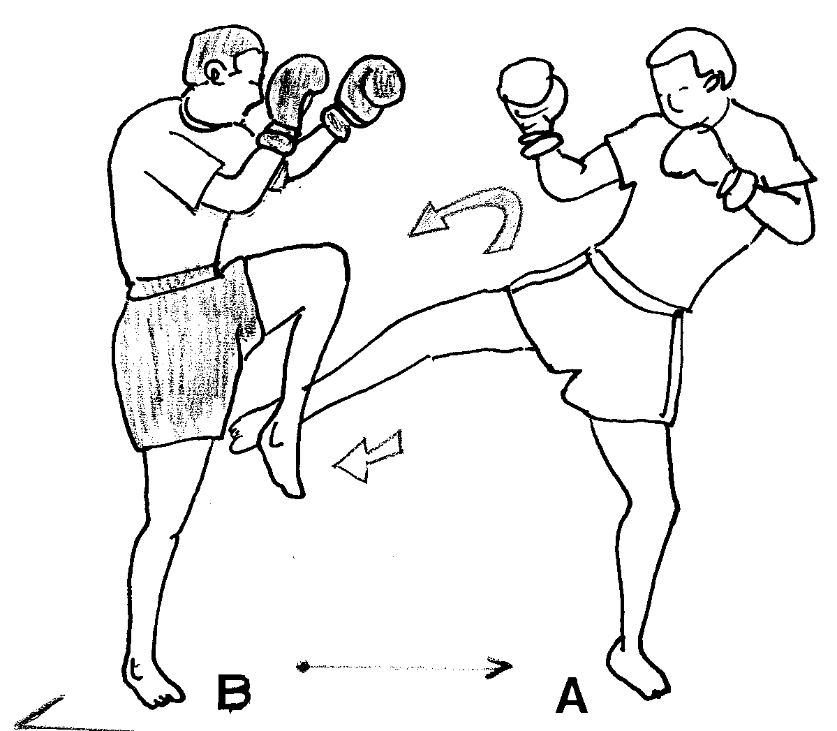 muay thai coloring pages | Percussion (sport)