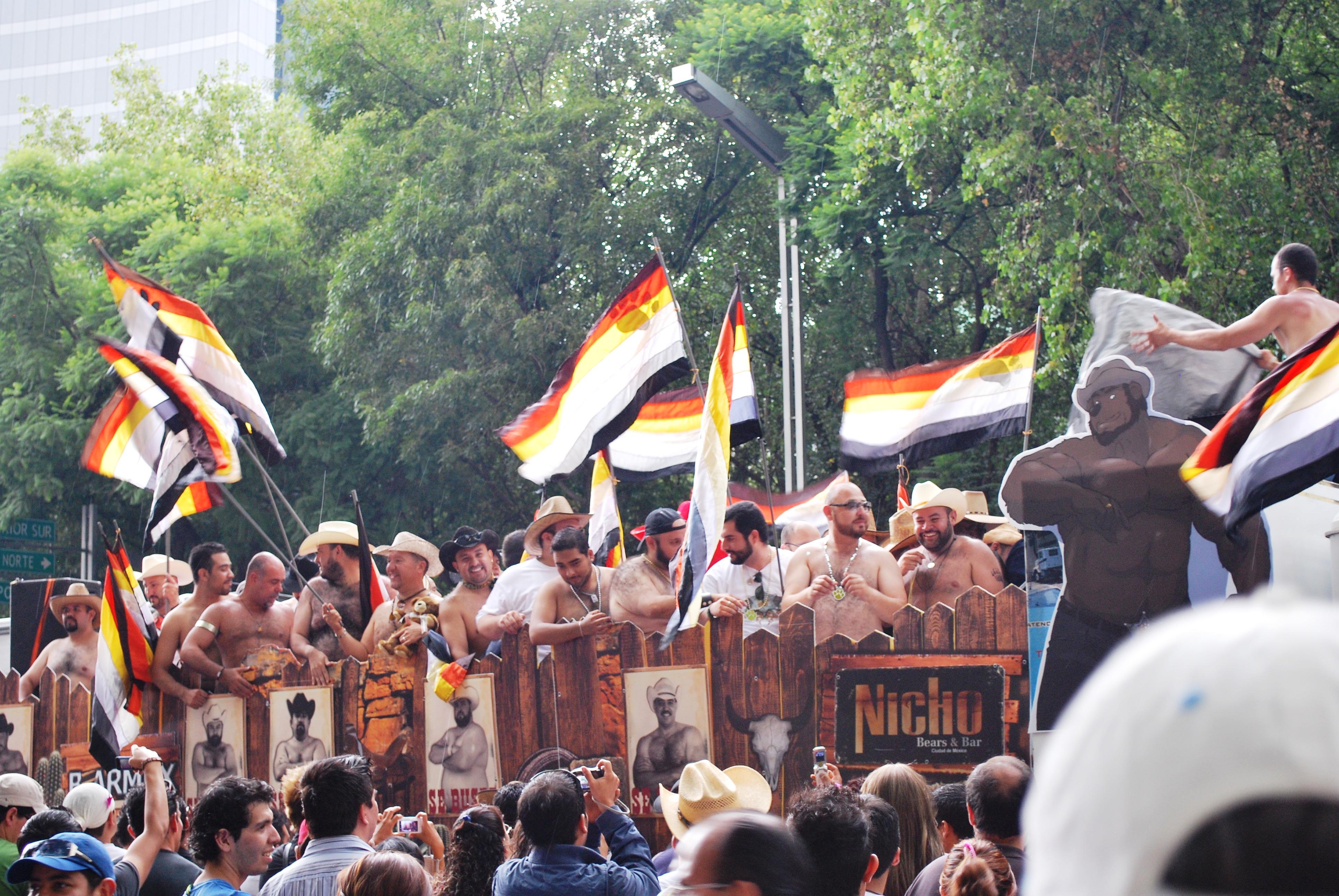 Медведи на гей параде в Мехико 2009 год.