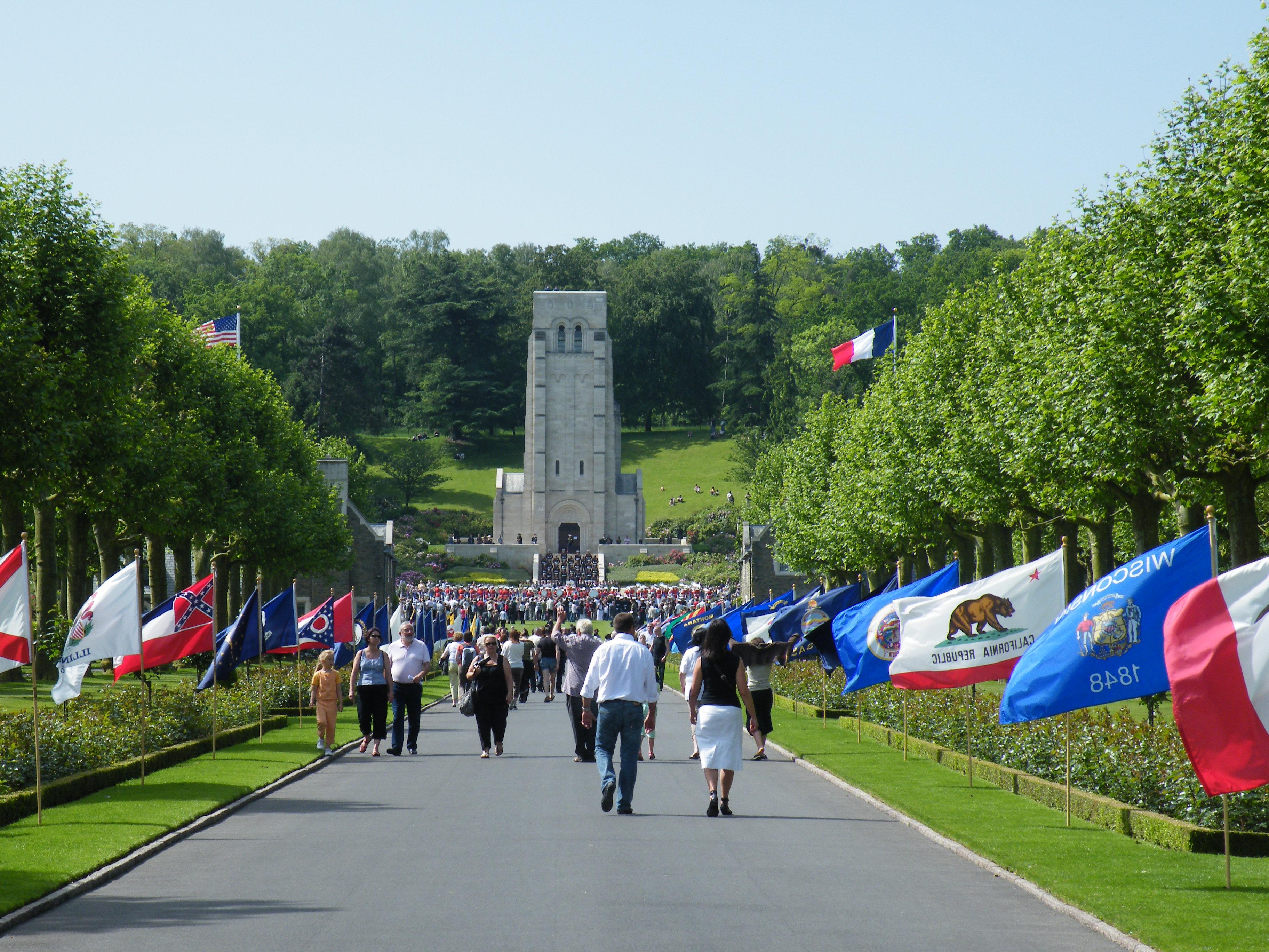 Commémoration du Memorial Day le 24 mai 2009 au Bois de Belleau