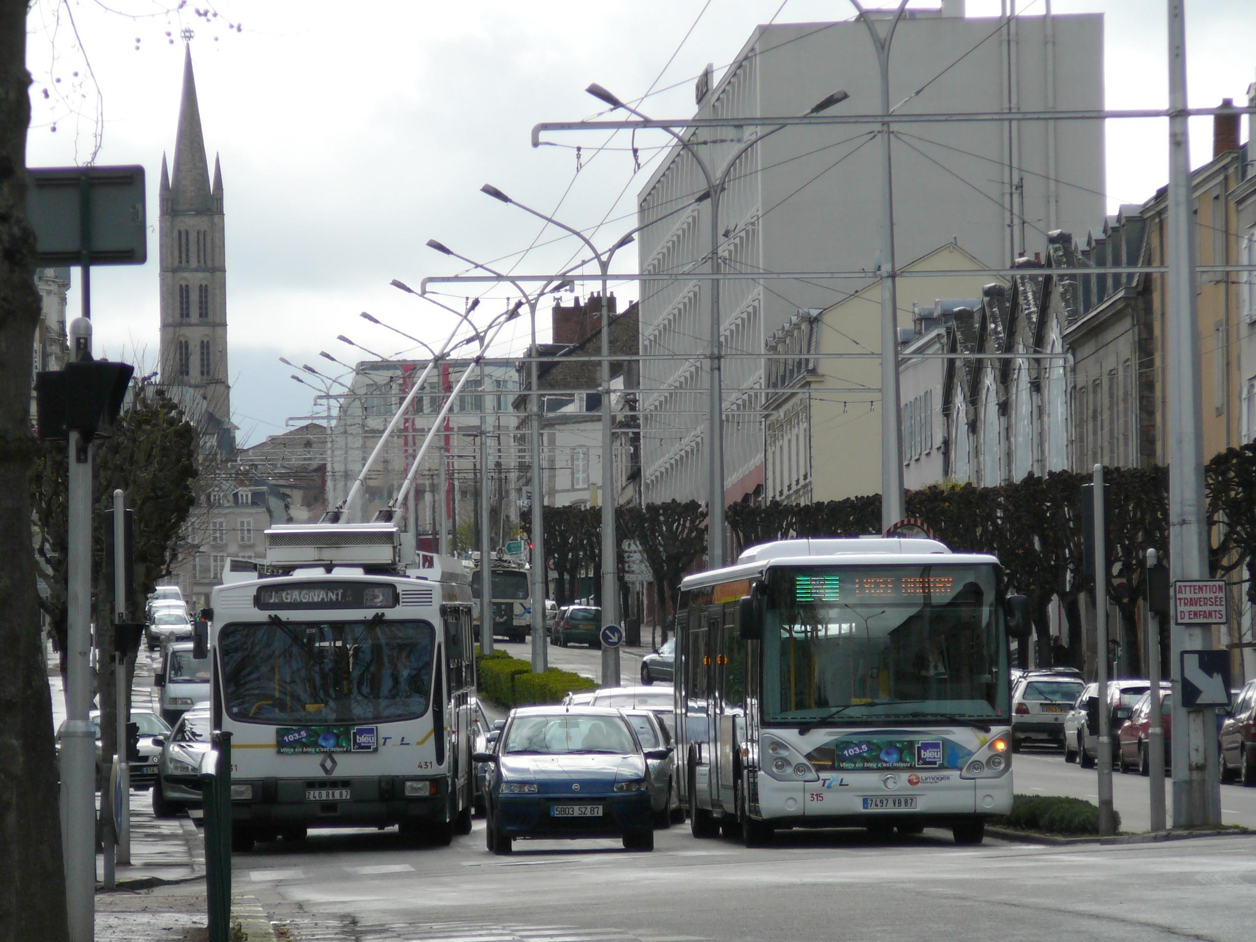 Ligne 5 du trolleybus de limoges - Ligne bus limoges ...