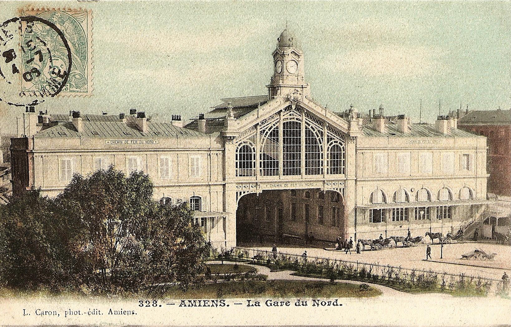 Gare d 39 amiens for Au dela du miroir lille