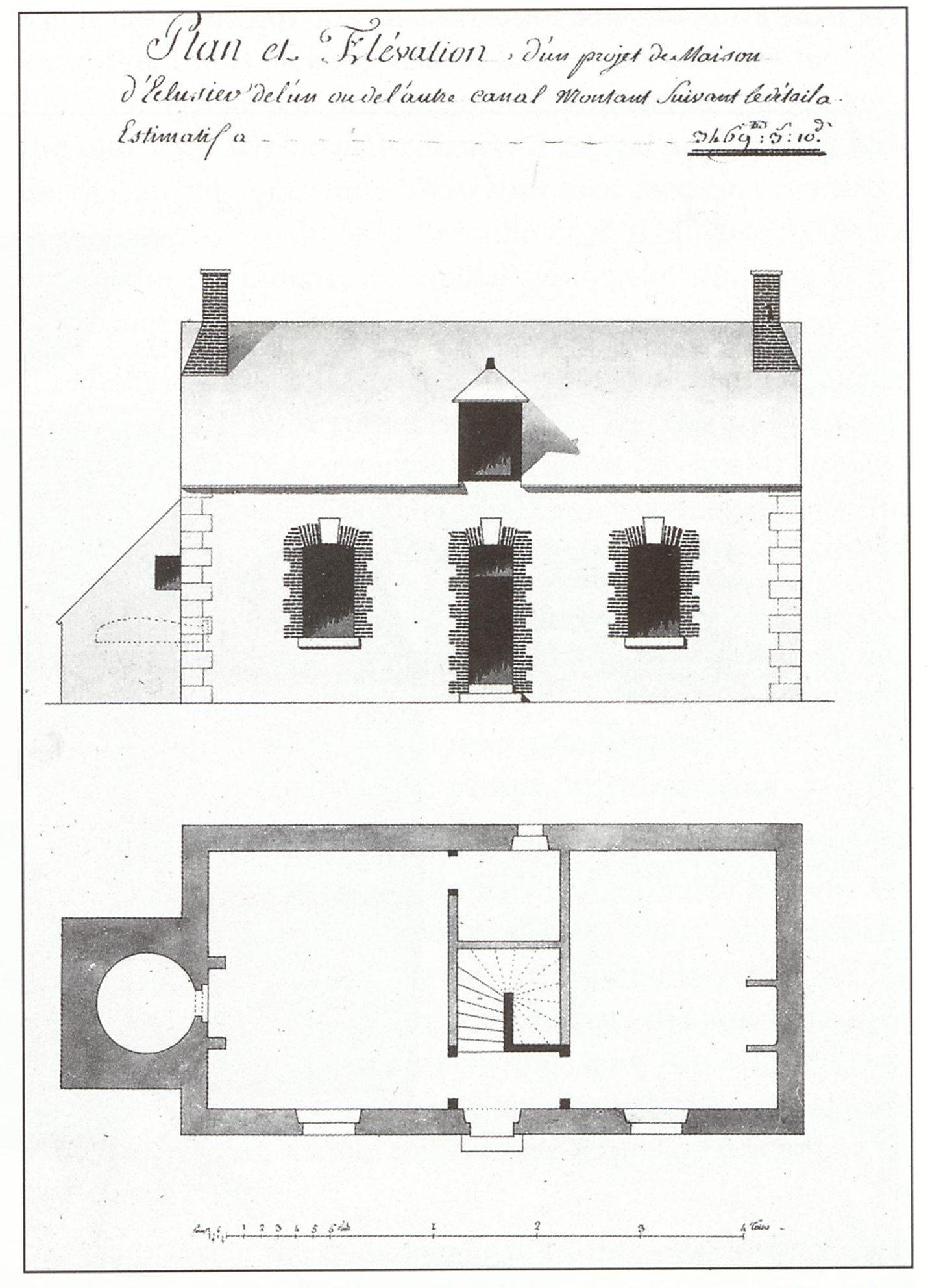 Plan Elevation Maison : Canal d orléans