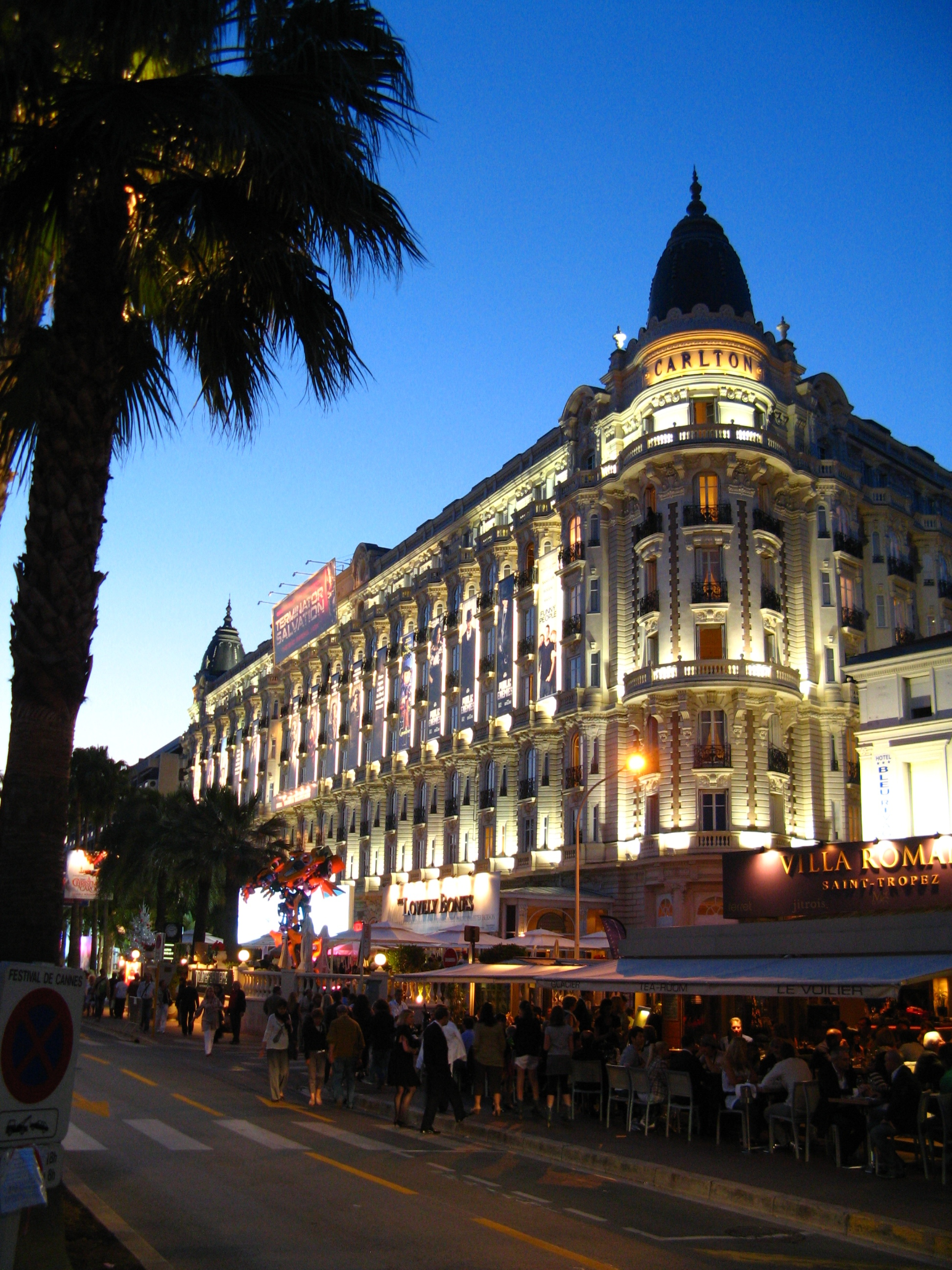 H tel carlton cannes for Hotels cannes