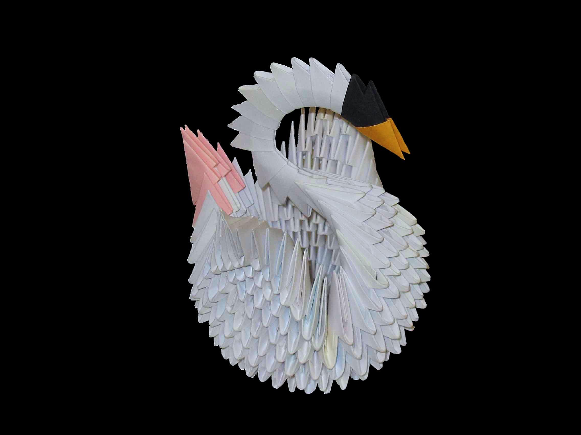 Модульное оригами для начинающих из бумаги: пошаговая 75