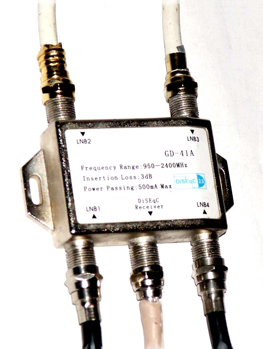 Diseqc for Cable passe fenetre pour parabole satellite