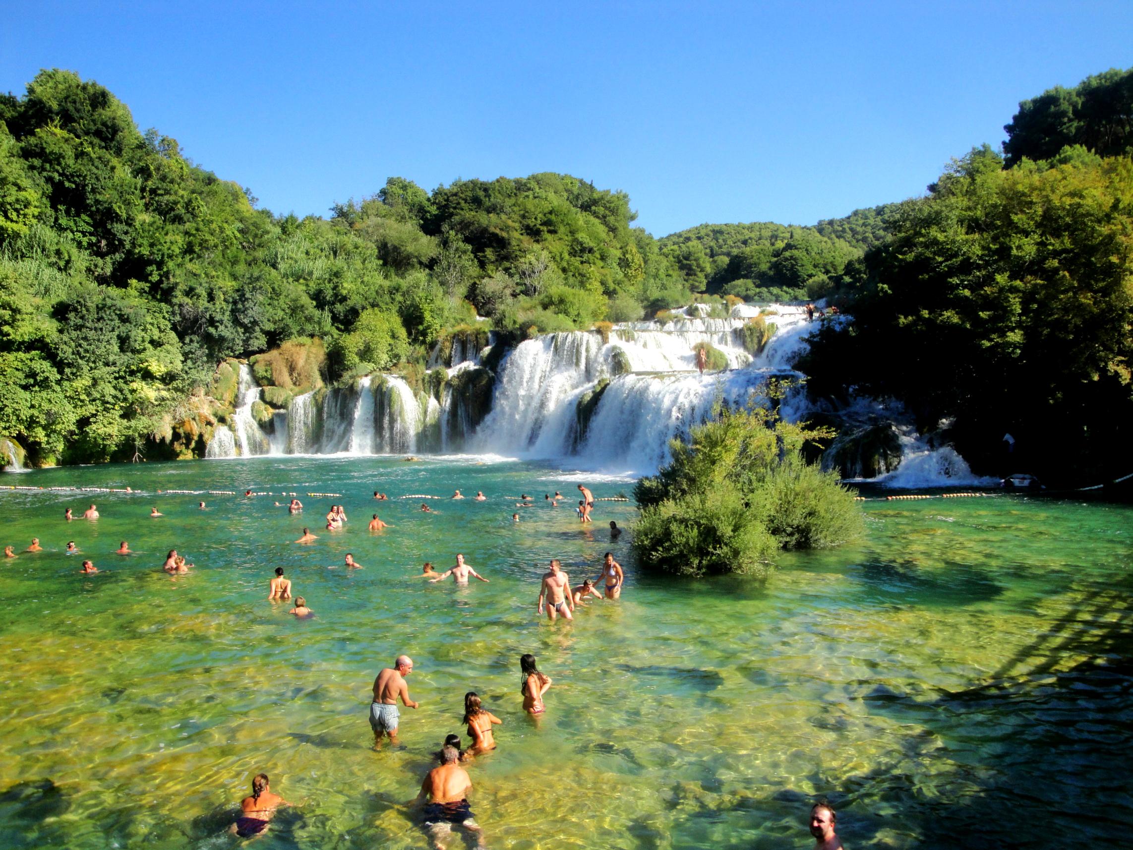 Parc national de krka chutes de la rivière krka dans le parc national