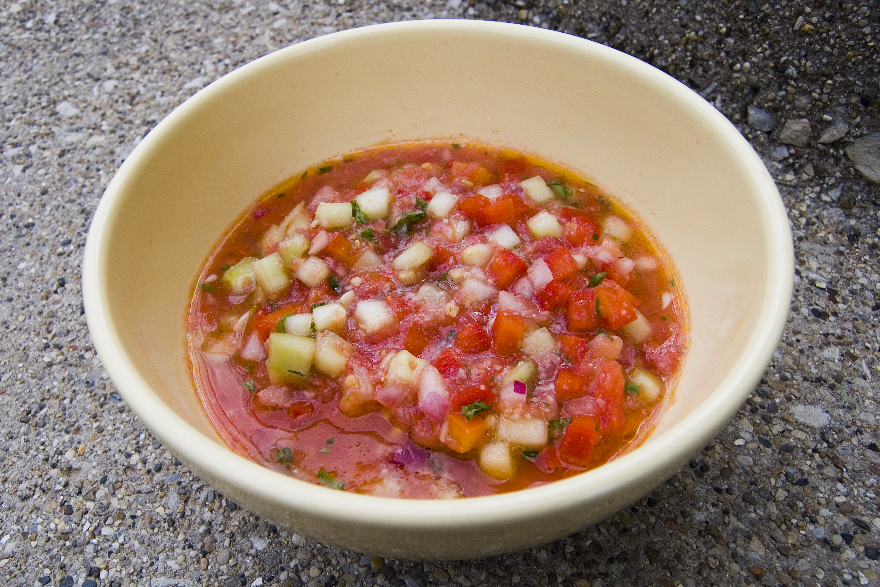 Gaspacho andalou for Andalusia cuisine
