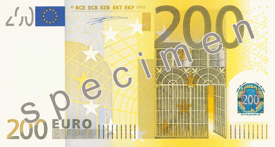 Billet de 200 euros - 200 euros en livres ...