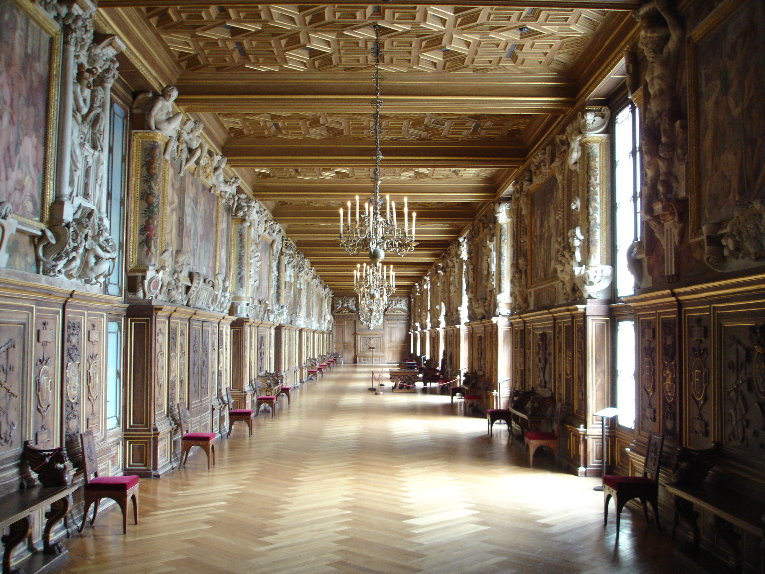 Galerie fran ois ier ch teau de fontainebleau for Interieur french