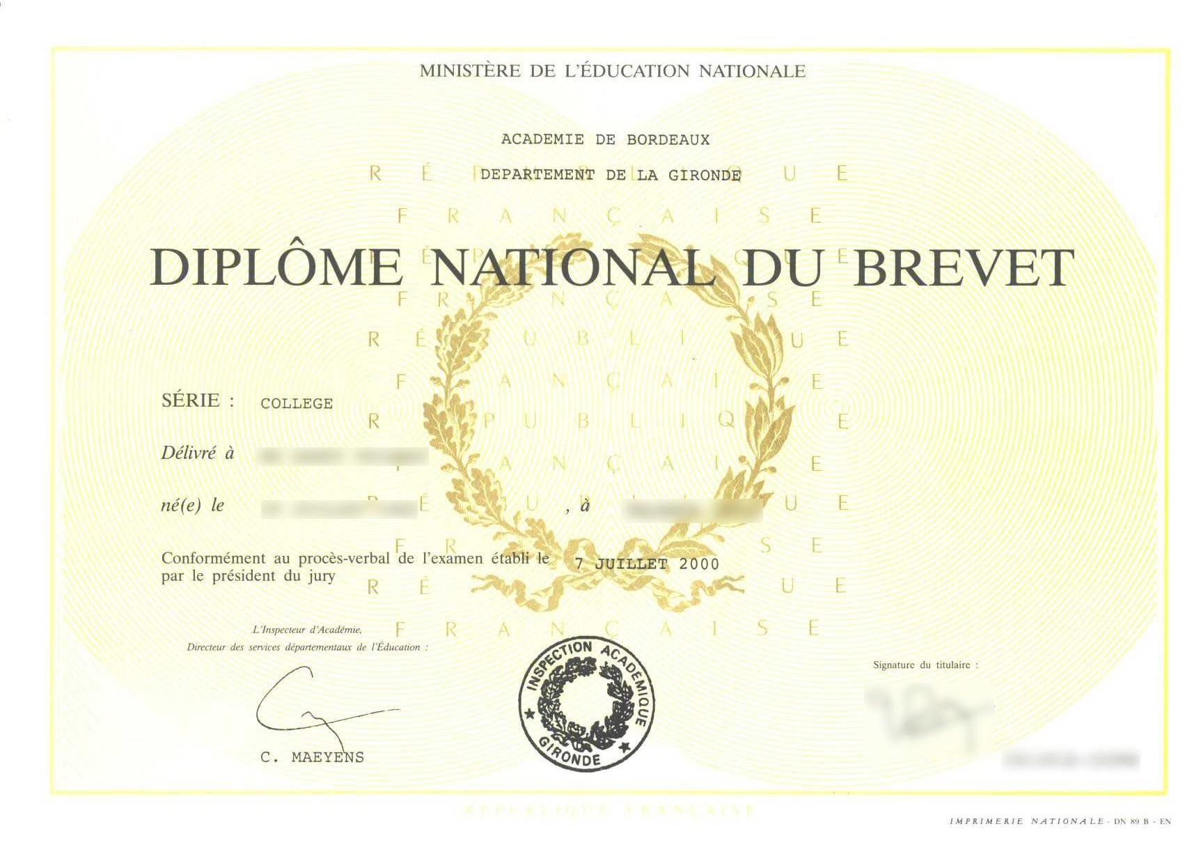 Certificat denterrement de vie de célibataire
