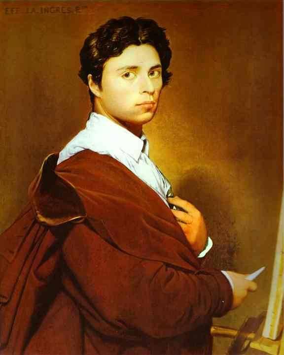 La peinture - Page 2 Ingres,_Self-portrait