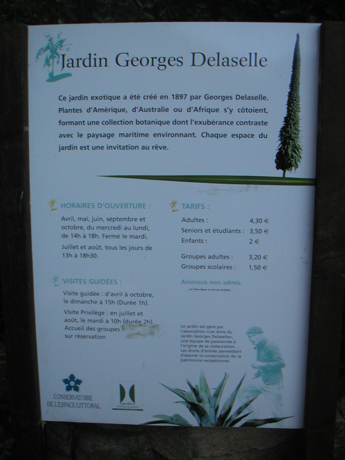 Le de batz for Jardin georges delaselle